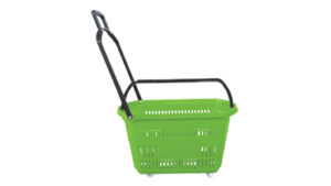 Regular Four Wheel Trolley Basket