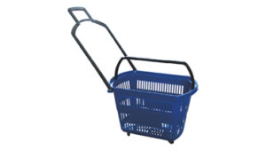 Large Four Wheel Trolley Basket