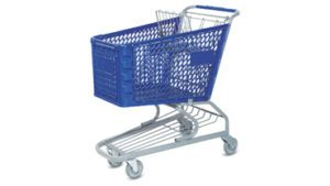Plastic Shopping Cart 120L