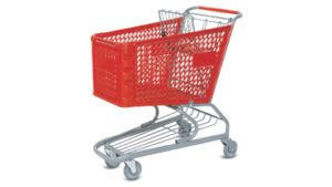 Plastic Shopping Cart 180L