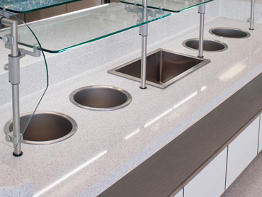 Quartz, Glass, Laminate and Stainless Steel by Diamond Group