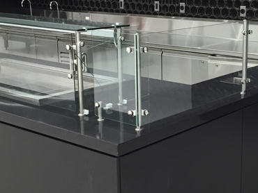 Quartz, Powder Coated Paint, Glass and Stainless Steel by Diamond Group