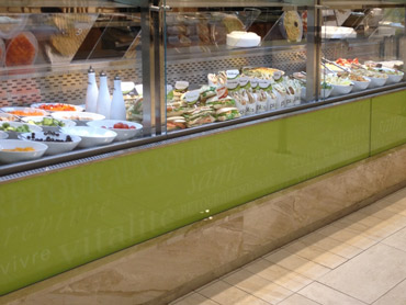 Custom Refrigerated Food Display by Diamond Group