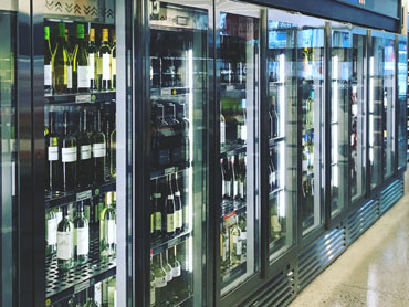 Custom Refrigerated Wine Display by Diamond Group