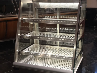 Glass Heated Display Case by Diamond Group
