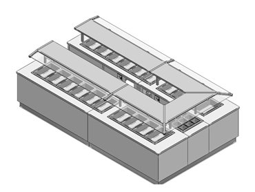 Hot cold buffet blueprint by Diamond Group