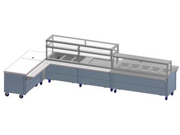 Modular school cafeteria blueprint by Diamond Group