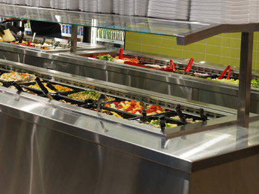 Refrigerated Stainless Salad Bar by Diamond Group