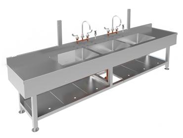 Triple Sink Sterilization Station by Diamond Group